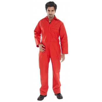 FIRE RETARDANT BOILERSUIT RED